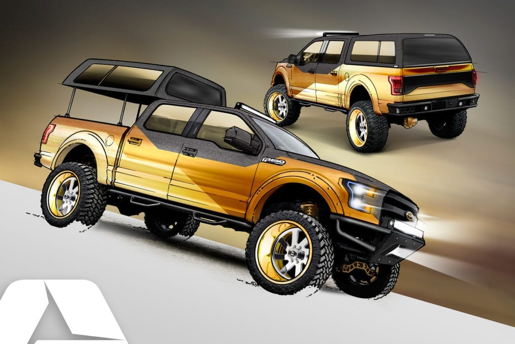 2016 Golf Standard Ford F-150 Project Truck by A.R.E. Accessories could bring gold trucks back into style.