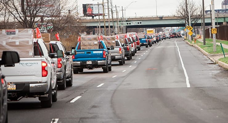 Toyota Plans Tundra Convoy to Deliver 330,000 pounds of Food in Philadelphia