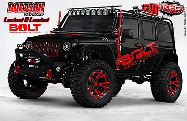 "BOLT LOCKS Brings ""Locked and Loaded"" Jeep Wrangler to 2016 SEMA Show"