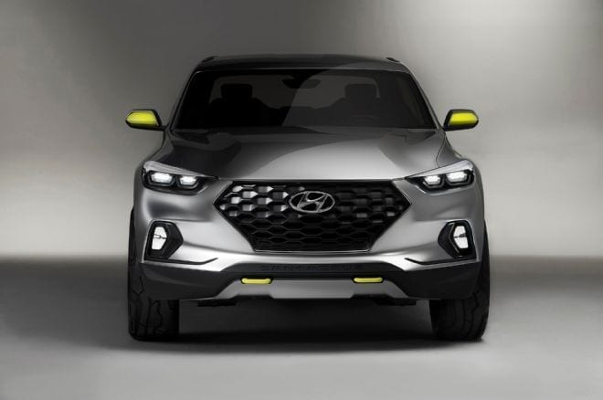 Taking Cues From The Santa Cruz Concept Hyundai Pickup S Likely Unibody Design Invites Comparisons To Honda Ridgeline But Expect South Korean