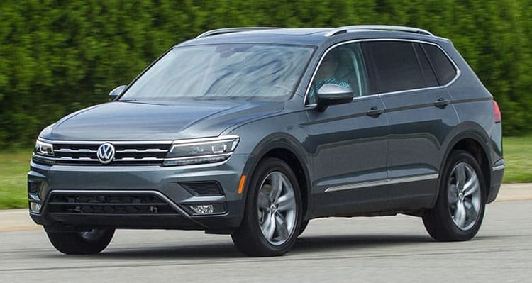 Recall 2018 Volkswagen Tiguan Back Up Lights Not Bright Enough