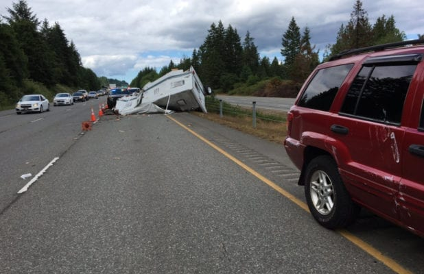 New RV Camper Wrecked 20 Minutes After Buying It