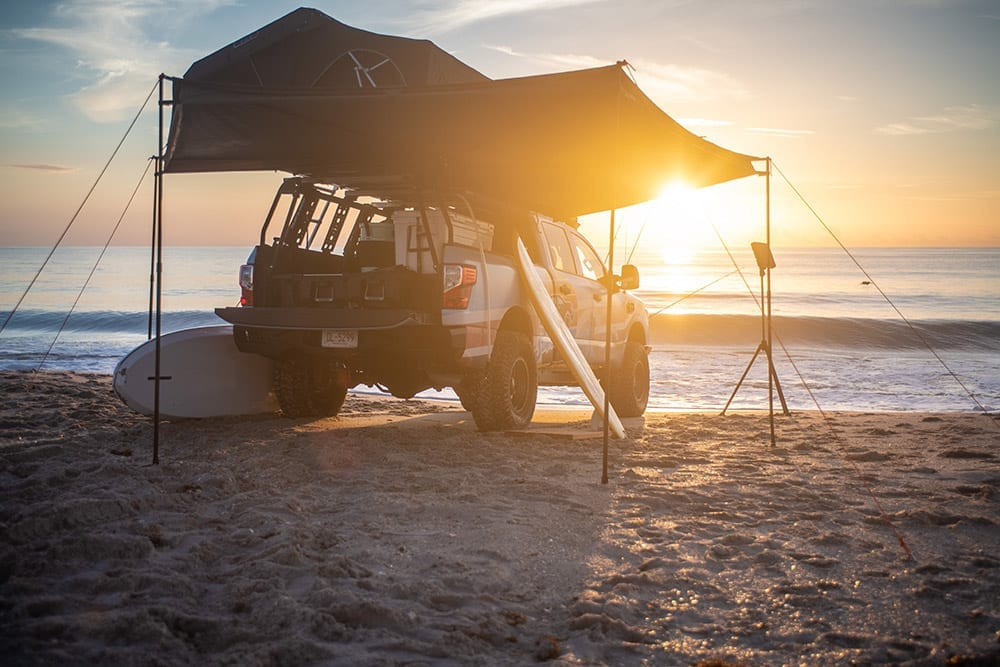 Nissan Titan Surfcamp Show Vehicle - Retro Beach Looks, Gear + Big Pickup Capability