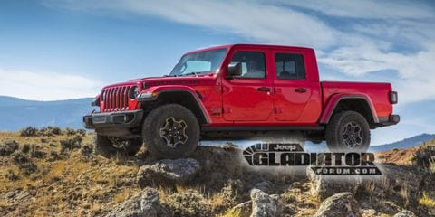 New 2020 Jeep Gladiator Pickup Photos Leaked