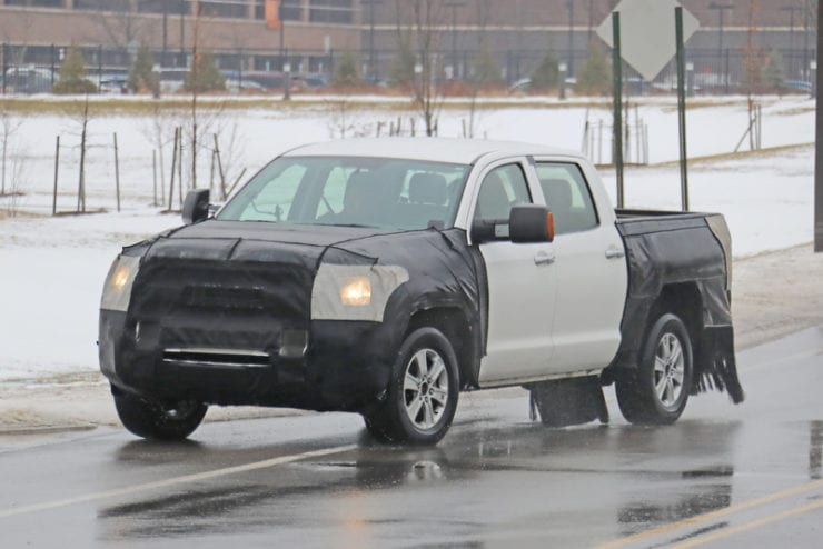 2020 Toyota Tundra Spied Testing New Design 30 Mpg Expected