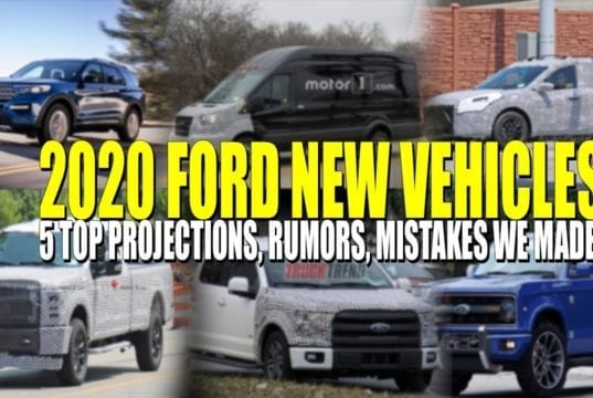 Top 5 New 2020 Ford Vehicle Rumors