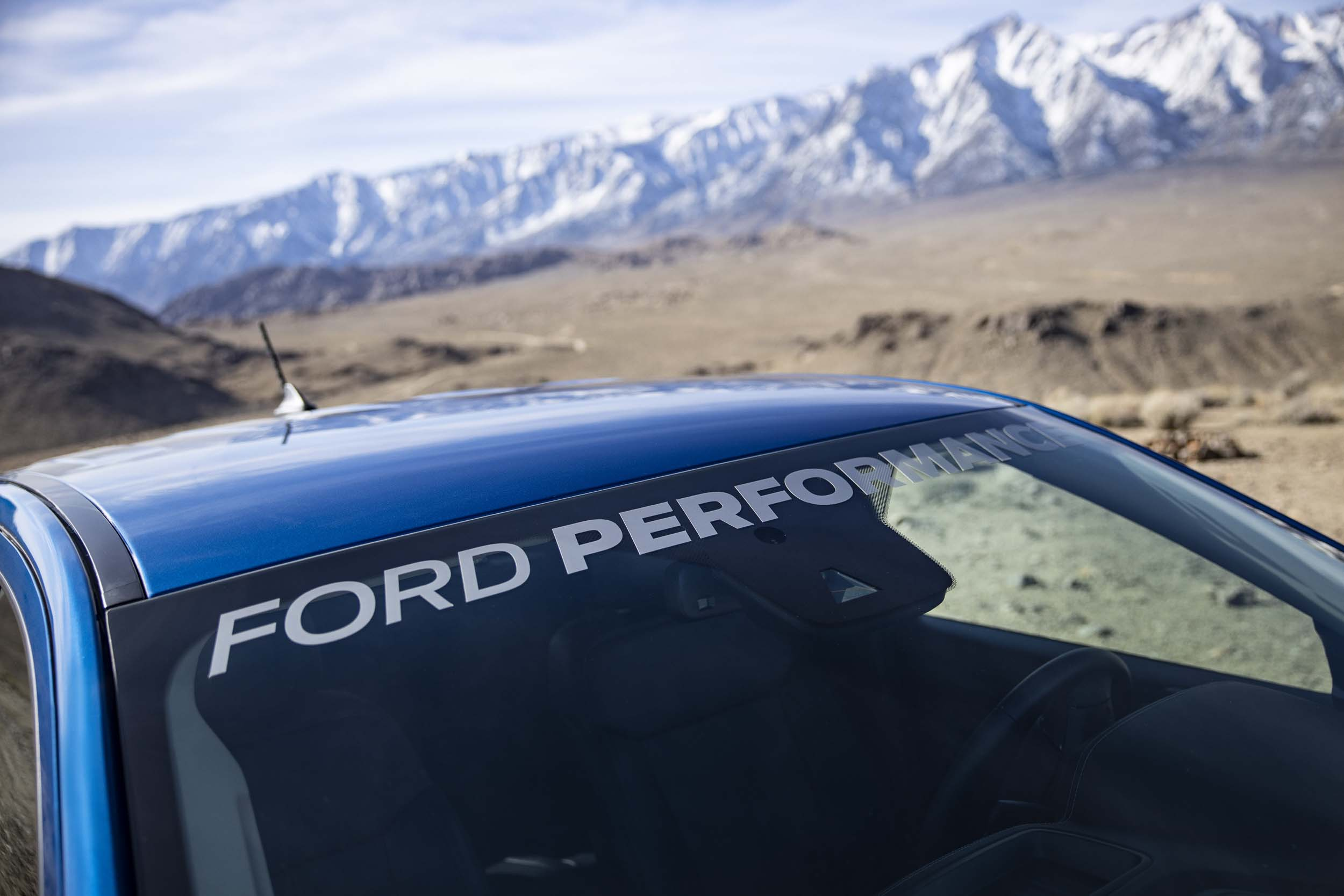Performance Package windshield logo