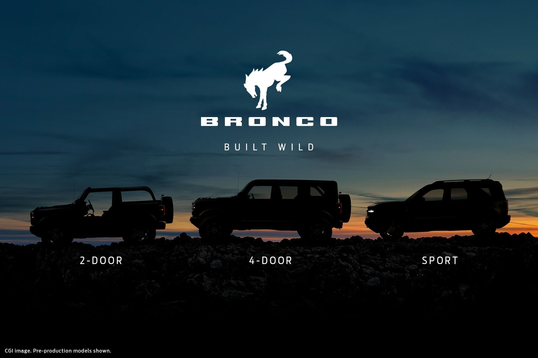 Ford Bronco Family Photo