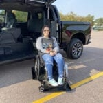 Cool Gull Wing door! 2020 Chevy Silverado with wheelchair conversion
