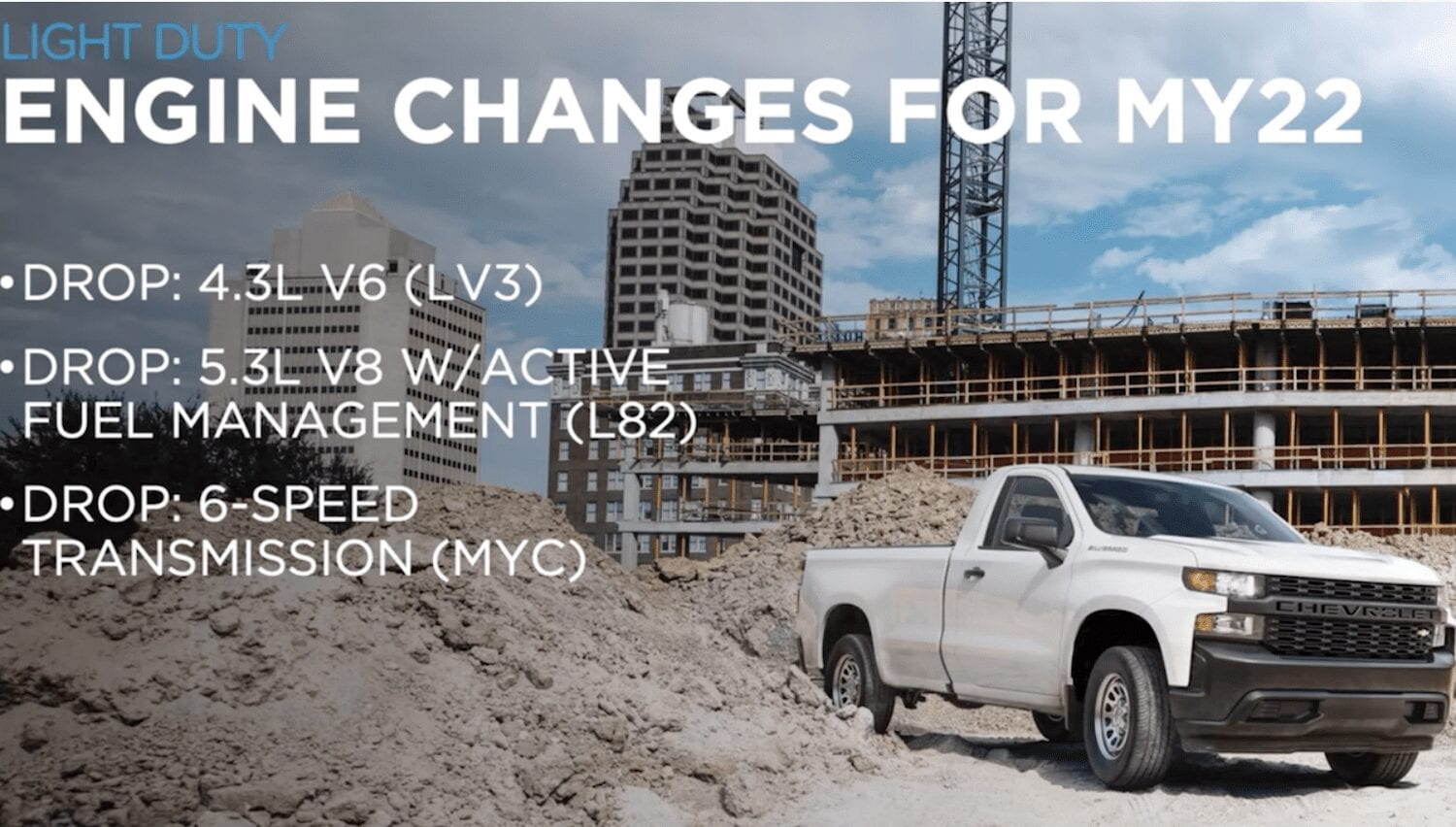 2022 Chevy Silverado 1500 Engine Changes Leaked