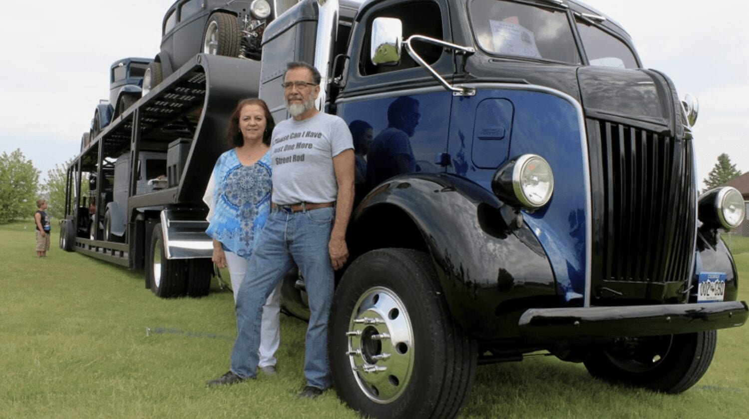 1947 Ford COE Semi With Classic Car Trailer