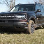 2022 Ford Bronco Sport Badlands low front 3/4 view drivers side